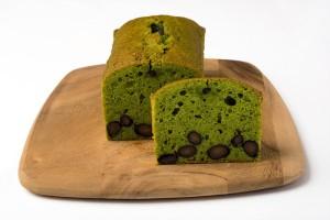 抹茶のパウンドケーキの写真
